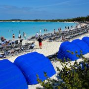Bahamas-Half-Moon-Cay-Clamshell-Sunshades-on-Beach